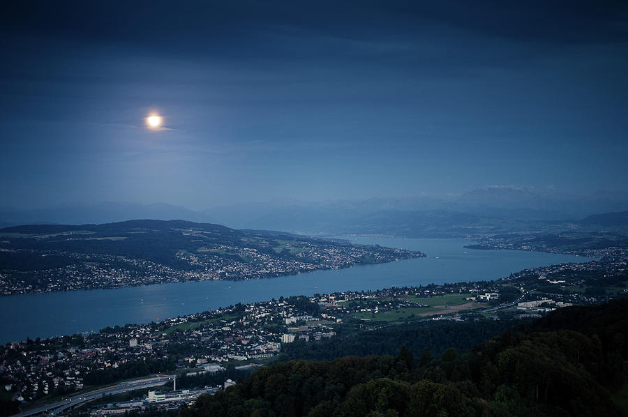 Moonlight Over Lake Photograph by Tobias Gaulke