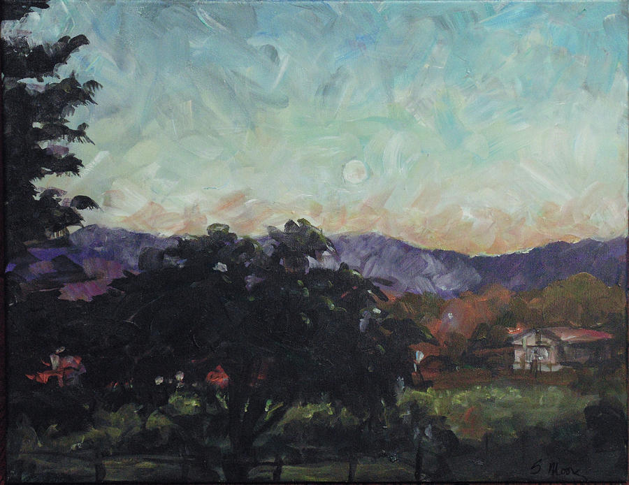 Impressionist Painting - Moonlight Ranch by Susan Moore