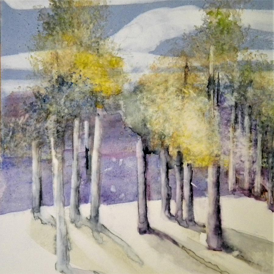 Watercolor Painting - Moonlight by Sally Bullers