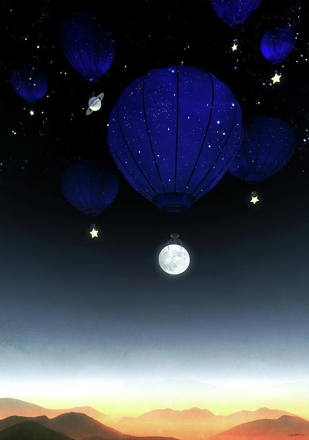Moon Digital Art - Moonrise by Cynthia Decker