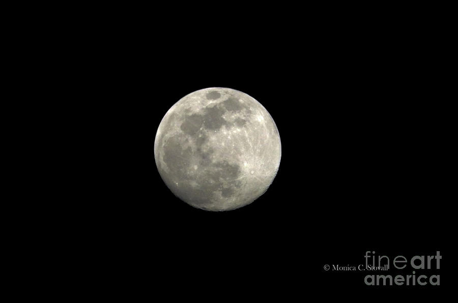 Moonrise Enhanced to Highlight Craters by Monica C Stovall