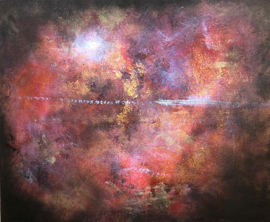 Moonrise Horizon Painting by Kevin Hunter