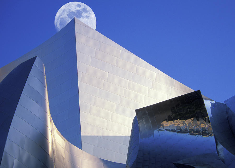 Moonrise Over Concert Hall Photograph by Grant Faint