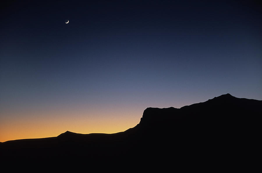 Moonrise Over Guadalupe Mountains Photograph by Milehightraveler