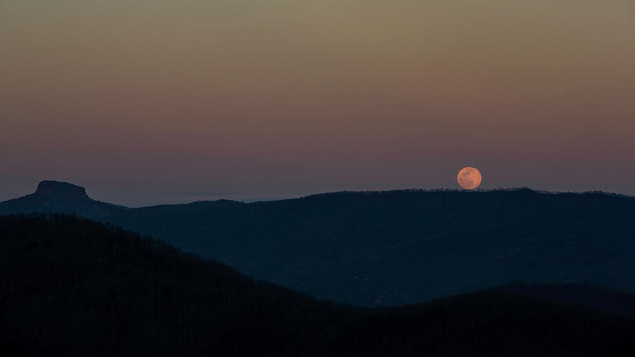 Moonrise over Table Rock by SL Ernst