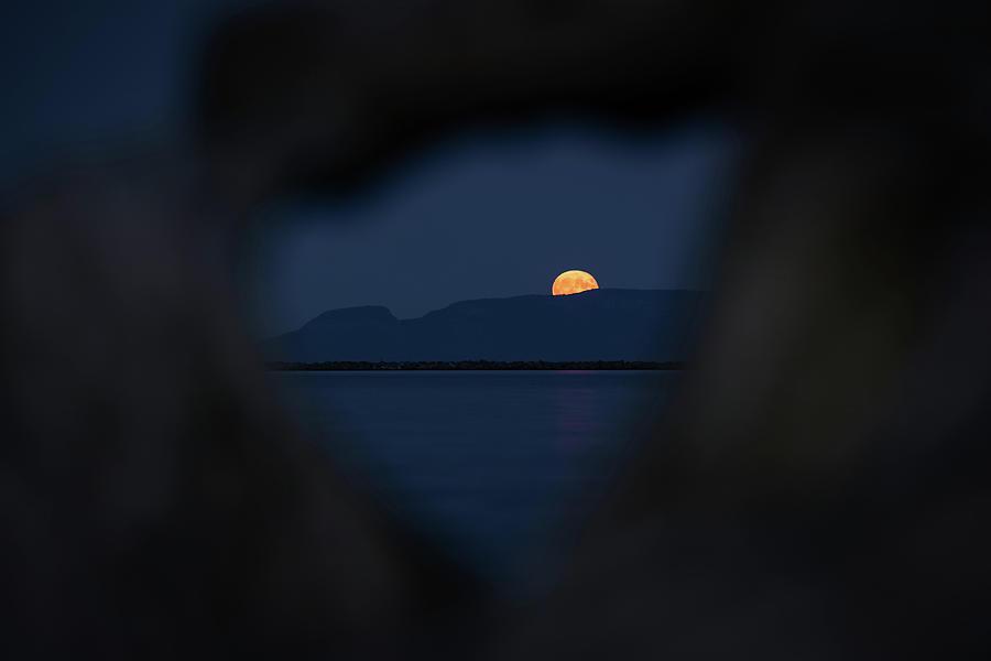 Canada Photograph - Moonrise Over the Giant by Jakub Sisak