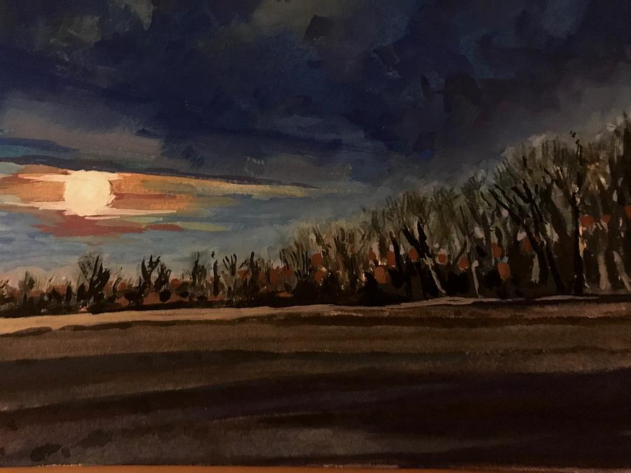 Moonset study by Les Herman