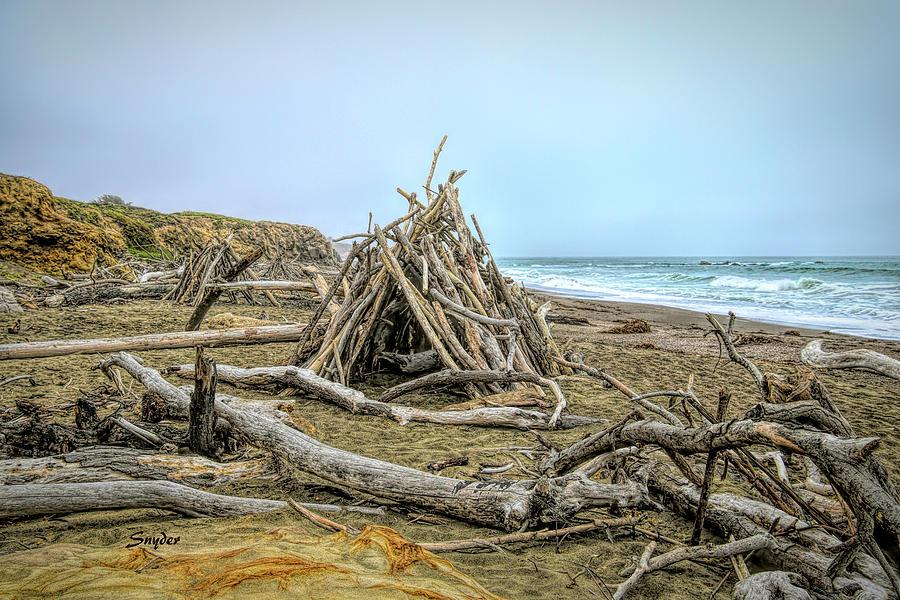 Moonstone Beach Driftwood Beach House by Floyd Snyder