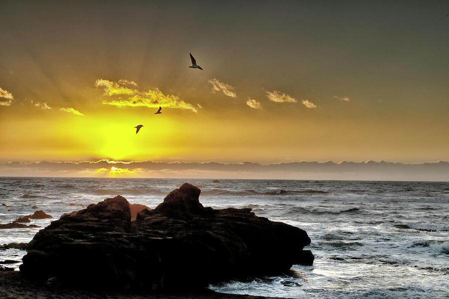 Moonstone Beach Twilight Photograph