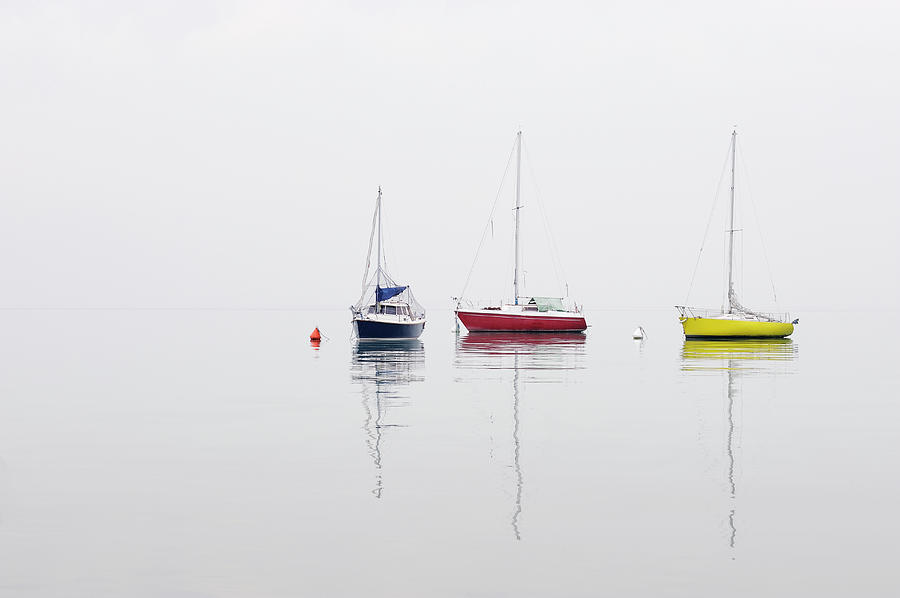 Moored Boats On Lake Garda, Spring Photograph by Martin Ruegner