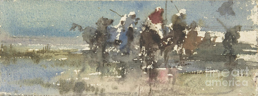 Moors On Horseback Drawing by Heritage Images