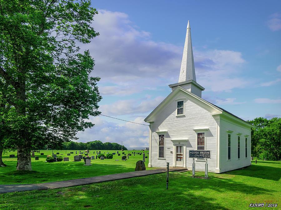 Architecture Photograph - Moose Brook Chapel by Ken Morris