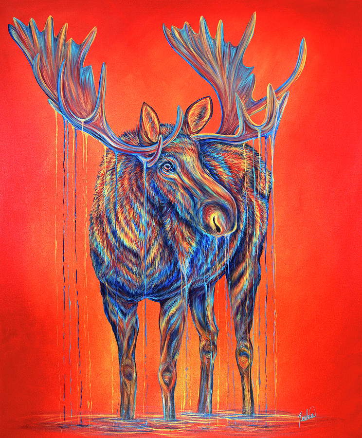 Moose of Spanish Peaks by Teshia Art