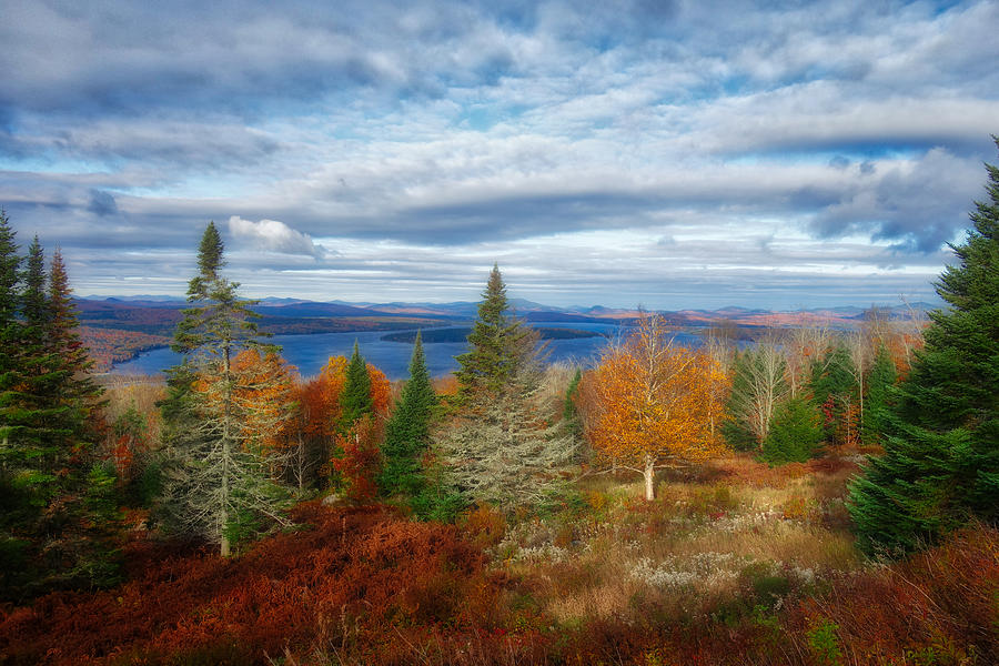 Mooselookmeguntic Lake Fall Colors by Russ Considine