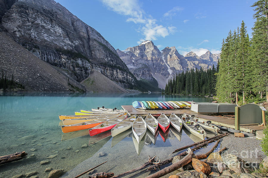 Moraine Lake Photograph - Moraine Lake, Banff National Park by Eddie Hernandez