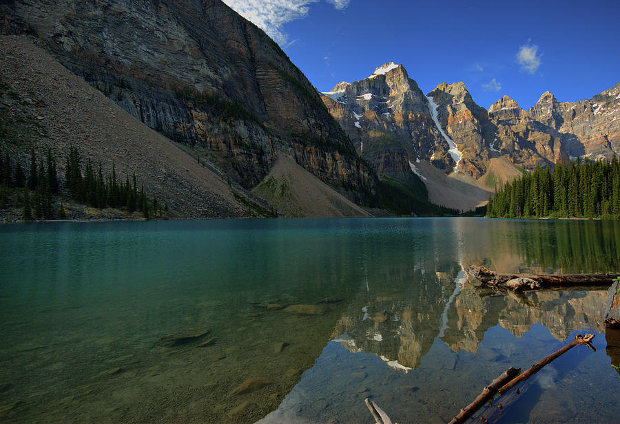 Moraine Lake In The Morning Photograph by Photography Aubrey Stoll