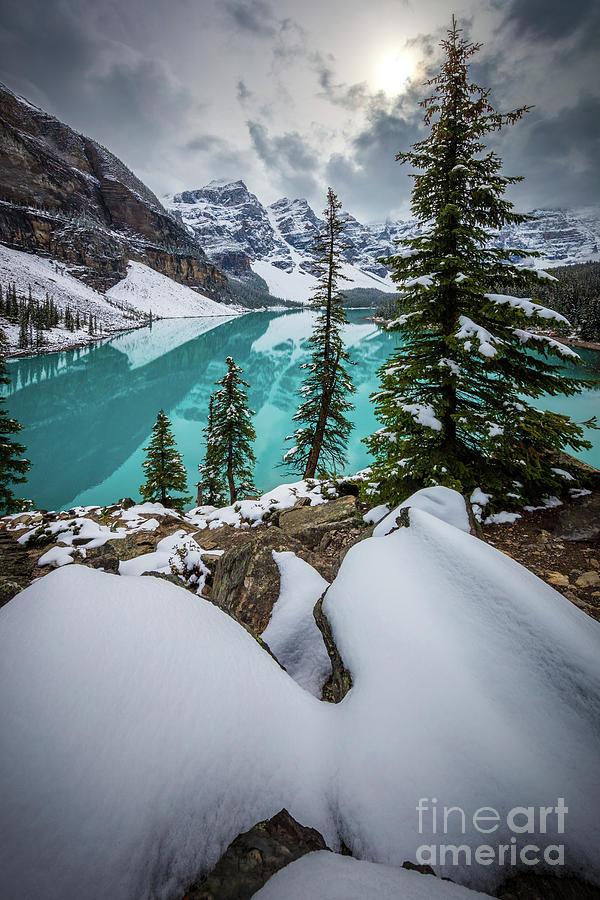 Moraine Lake In Winter