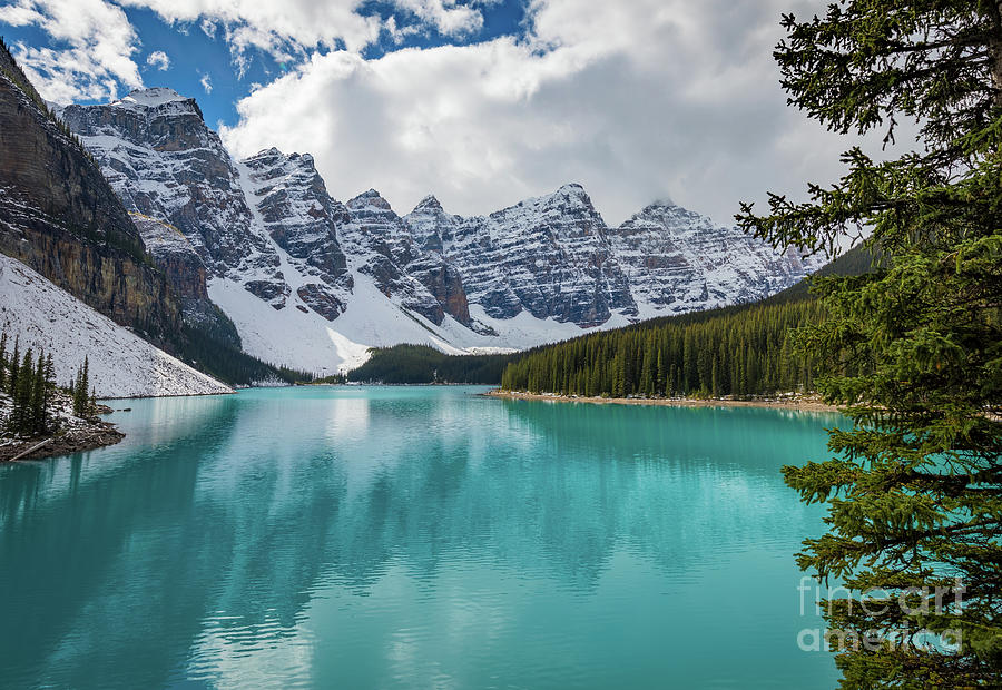 Alberta Photograph - Moraine Lake Range by Inge Johnsson
