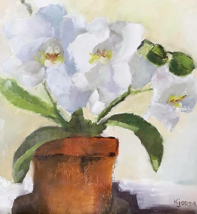 Orchids Painting - More Orchids by Karen Jordan