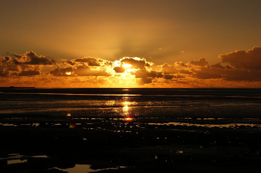 Morecambe Bay Sunset. by Lachlan Main