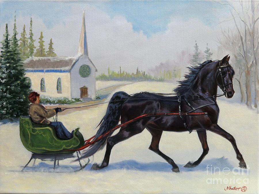 Morgan Sleigh Ride by Jeanne Newton Schoborg