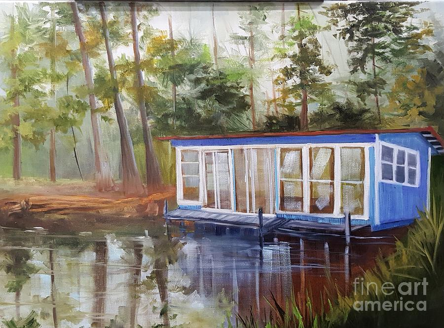 House Painting - Morin Pond House by Barbara Haviland