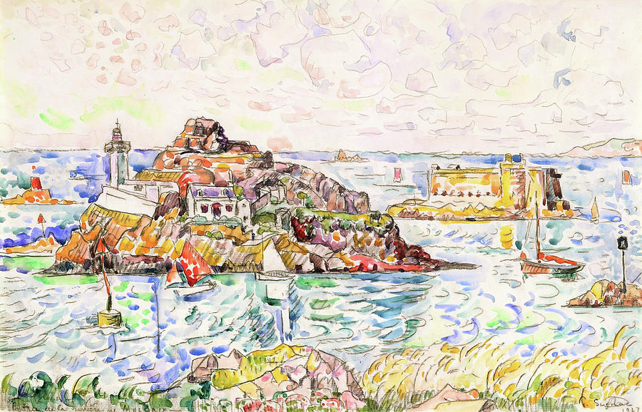 Paul Signac Painting - Morlaix, Entrance Of The River - Digital Remastered Edition by Paul Signac
