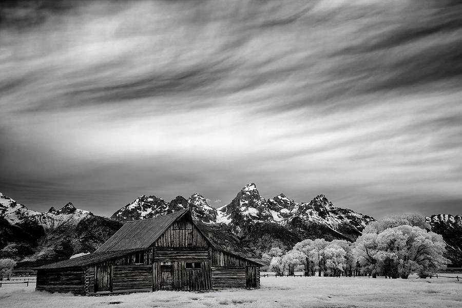 Tetons Photograph - Mormon Barn Under The Tetons by Jon Glaser
