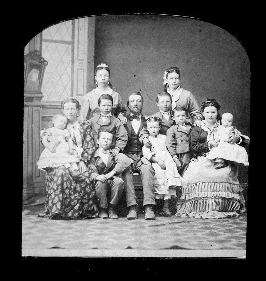 Mormon Family Photograph by Kean Collection