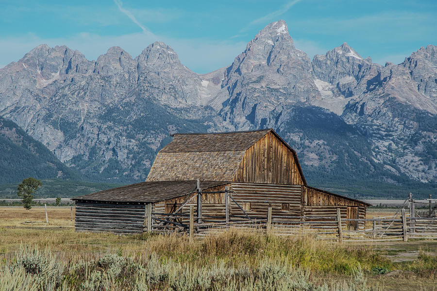Mormon Row Barn Framed by the Grand Tetons by Matthew Irvin