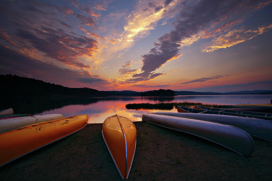 Morning At Lake Of The Two Rivers Photograph by Henry@scenicfoto.com