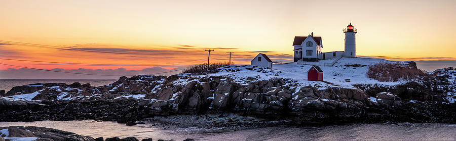 Morning at Nubble by Mark Papke