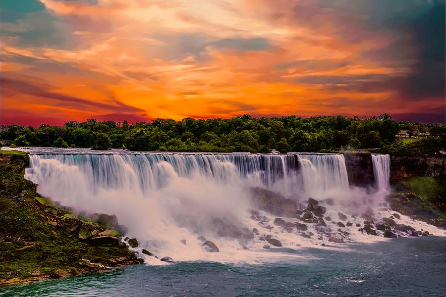 Morning At The Falls by Max Huber