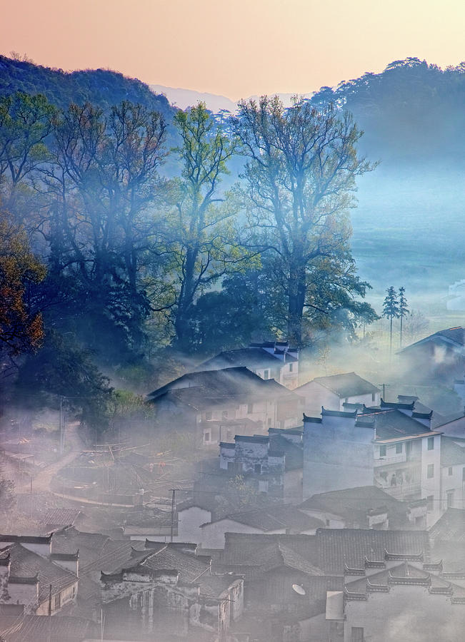 b00e0cf37 Chinese Culture Photograph - Morning At The Village Of Shicheng by William  Yu Photography