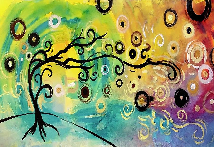 Abstract Mixed Media - Morning Dream by Natasha Wescoat