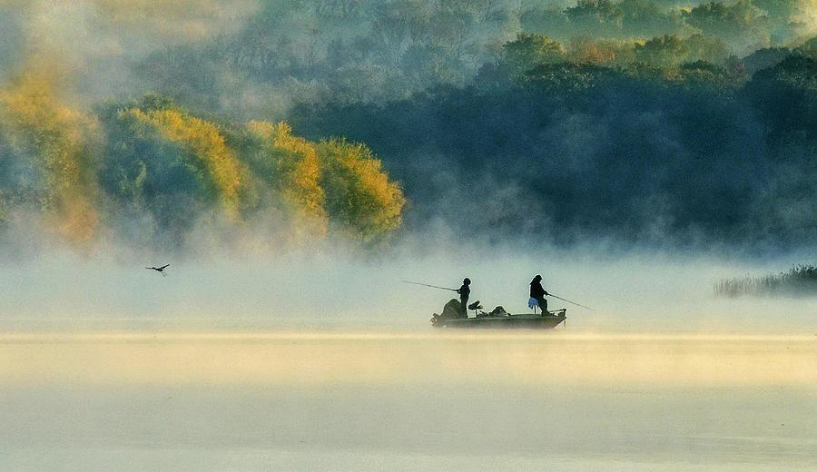 Morning Photograph - Morning Fishing by Eric Zhang