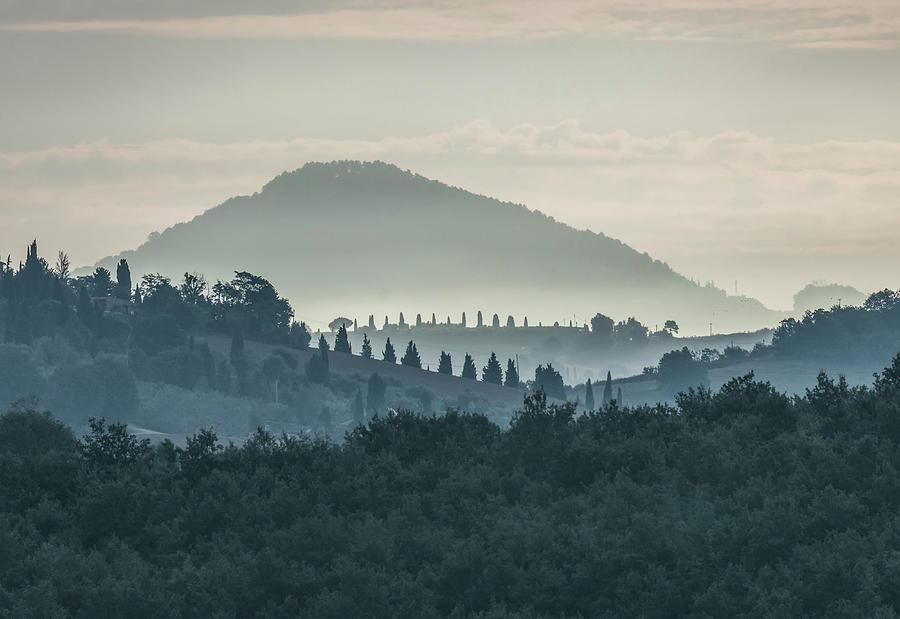 Morning hills of Toscany by Jaroslaw Blaminsky