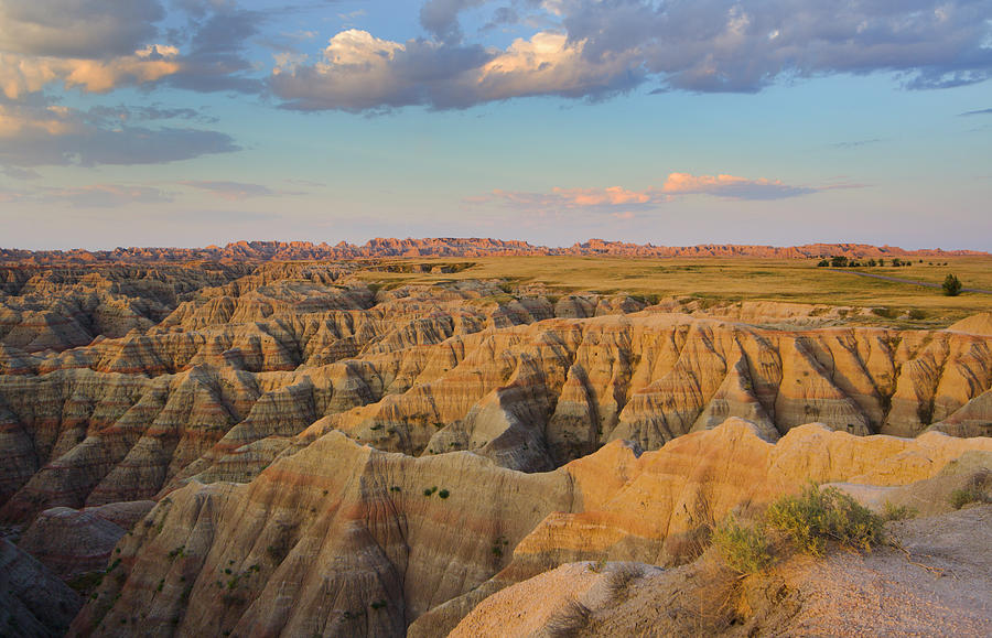 Morning In Badlands Photograph by Yinyang