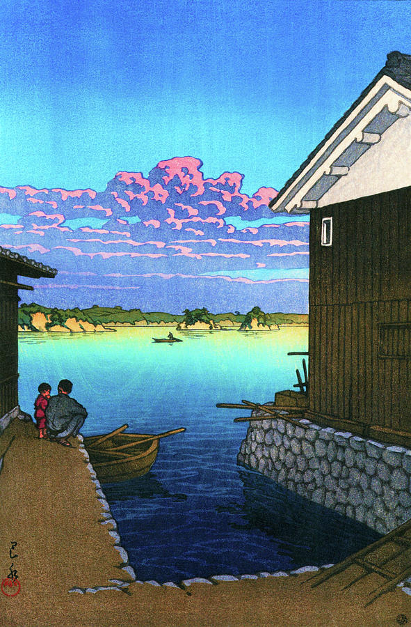 Ukiyoe Painting - Morning In Yobuko, Hizen - Digital Remastered Edition by Kawase Hasui