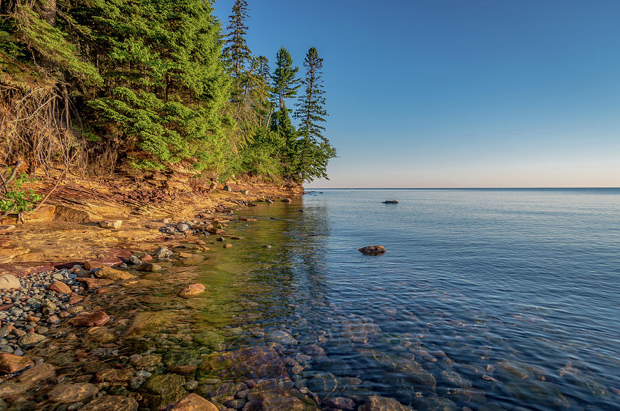 Morning light on Lake Superior  by Gary McCormick