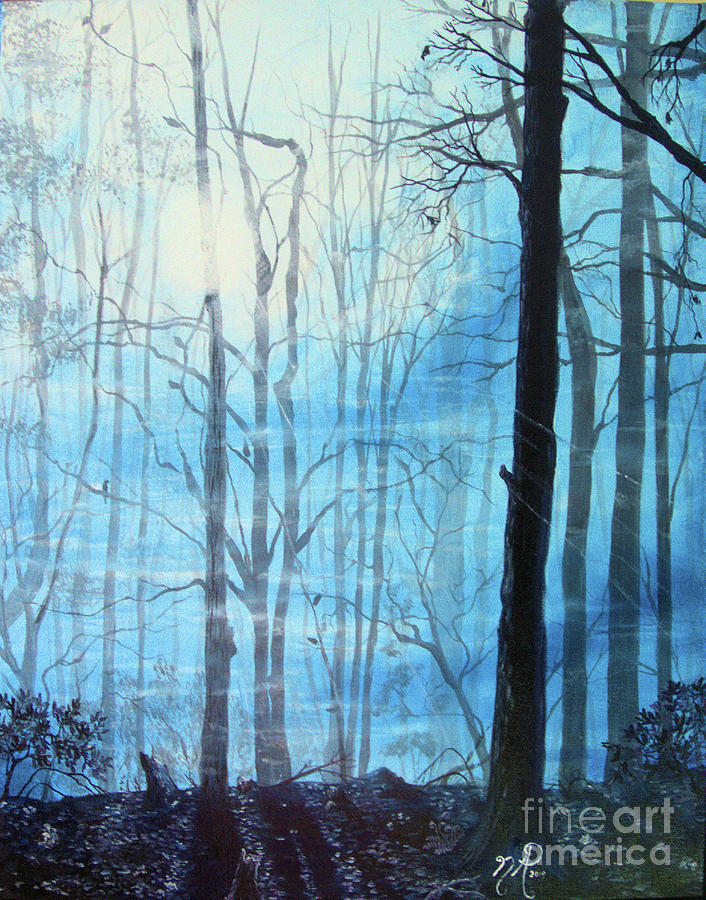 Blue Painting - Morning Moods by Nicole Angell