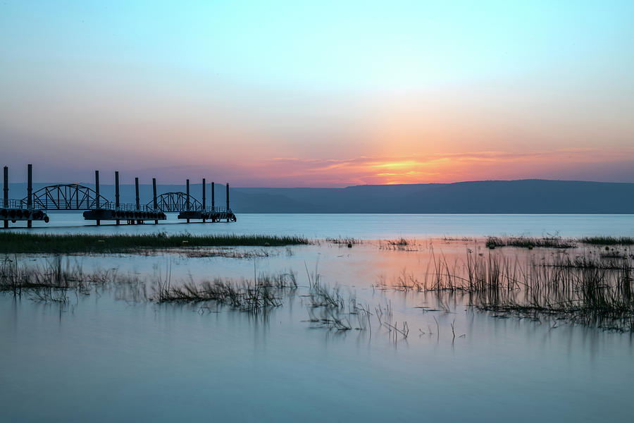 Morning over the Sea of Galilee 1 by Dubi Roman