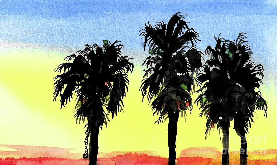 Morning Palm Trees by Terry Banderas