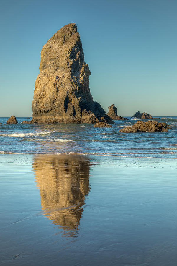 Morning Reflections In Cannon Beach 0965 Photograph