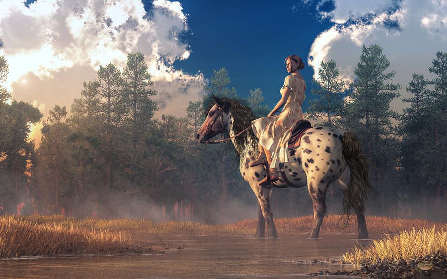 Morning Ride on an Appaloosa by Daniel Eskridge