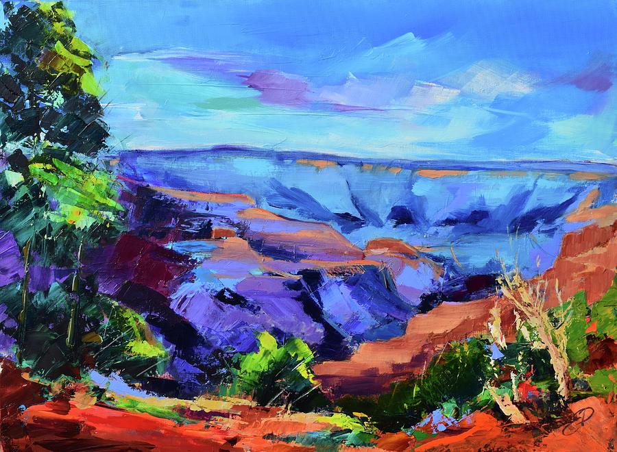 Serene Morning by the Canyon - Arizona by Elise Palmigiani