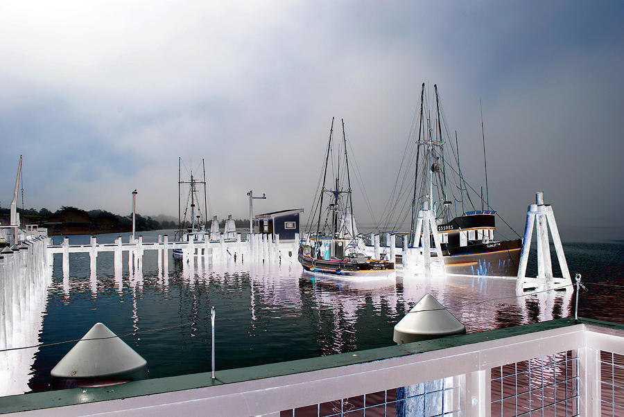 Morning ships by Steven Wills