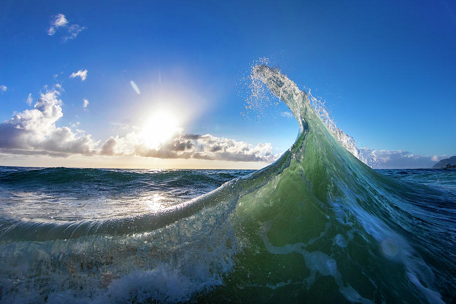 Wave Photograph - Morning Stretch by Sean Davey