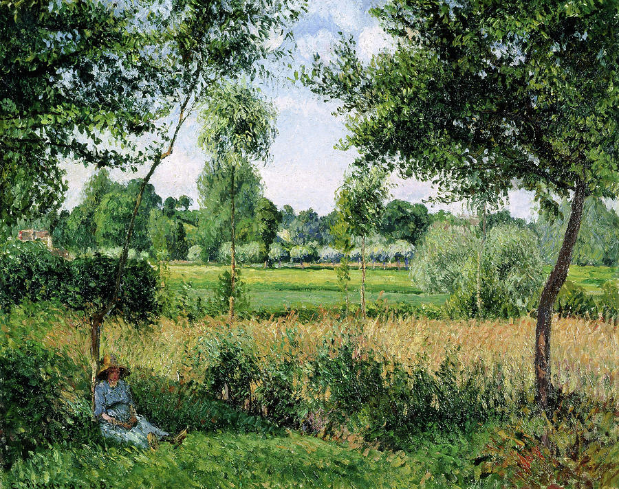 Camille Pissarro Painting - Morning Sunlight Effect, Eragny - Digital Remastered Edition by Camille Pissarro