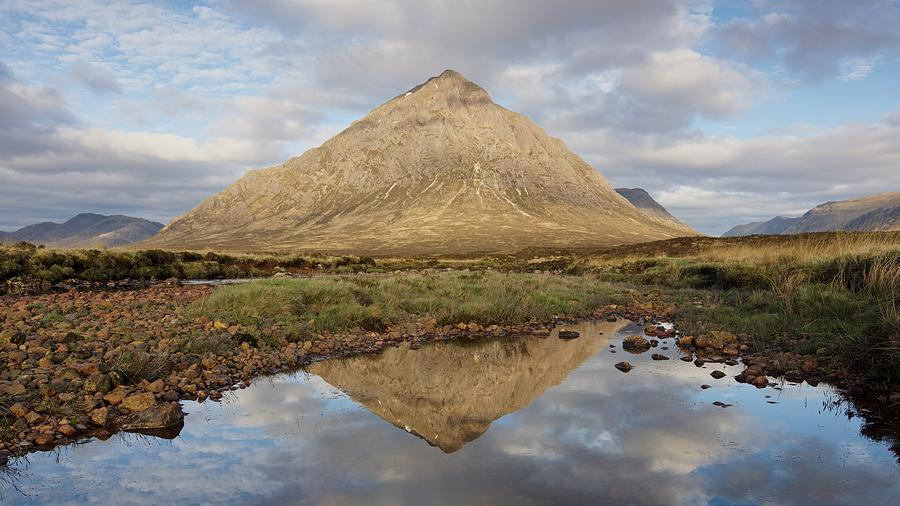 Morning Sunlight hits the Peak of the Buachaille by Stephen Taylor